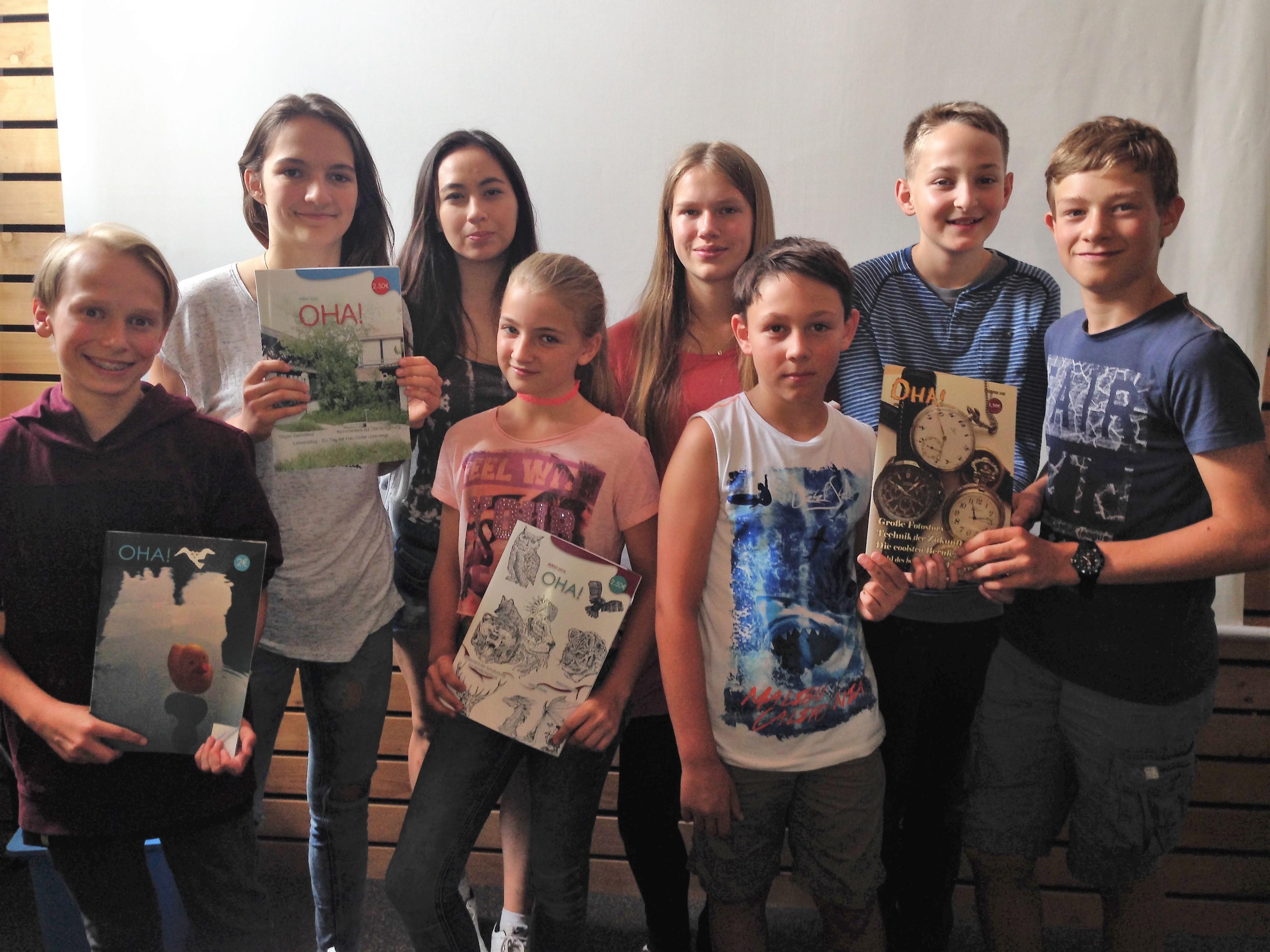 Gruppenbild des Schülerzeitungsteam